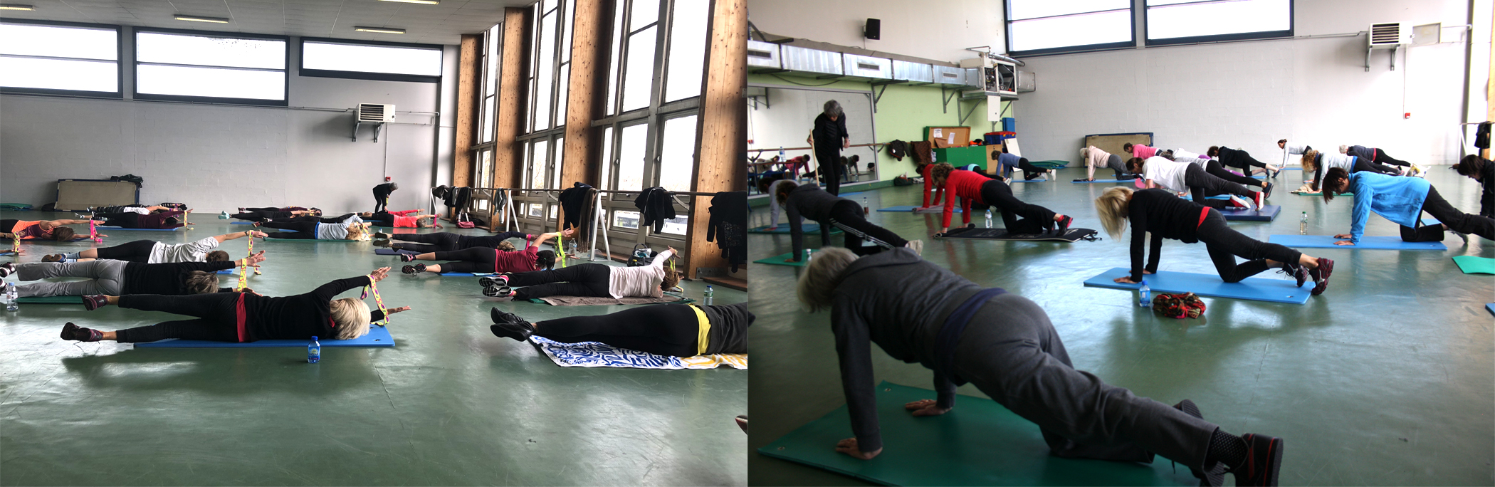 Montage gym gainage et étirement